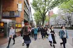 на улице Omotesando на 2016 Стоковые Фотографии RF