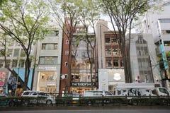 на улице Omotesando на 2016 Стоковое Фото