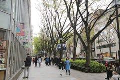на улице Omotesando на 2016 Стоковая Фотография