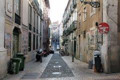 На улицах Лиссабона Стоковое Фото