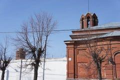 На улице захолустного городка Zaraysk, область Москвы Стоковая Фотография