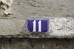 11 на улице Стоковое Фото
