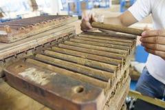 На фабрике сигары в Esteli Никарагуа Стоковое Фото