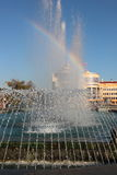 На фонтане Стоковые Изображения