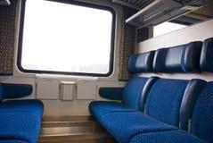 Интерьер поезда стоковые фотографии rf