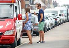 На фургоне мороженого Стоковое Изображение RF