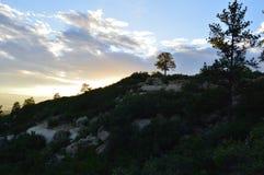 Над холмом Стоковое фото RF