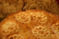 На хлебе фото, плоское зерно круглого торта Стоковая Фотография