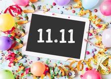 11 11 на шифере школы с рамкой масленицы стоковые изображения