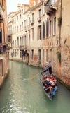 На шлюпке гондолы Венеции Стоковые Изображения RF