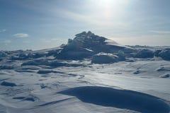 На льде Северного океана стоковая фотография