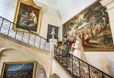 На экспозиции замка стоковые изображения