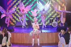 На этапе в эффектной выставке премьер-министра музыкального театра Стоковое Изображение