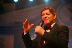 На этапе, фаворит толпы, сверкнать певица, певица Эдвард Hil (г-н Trololo) Стоковая Фотография RF