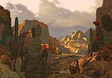 На юго-запад руины индейца Стоковые Фото
