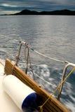 На яхте Стоковая Фотография