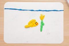 На для моделировании рыб sleplena и подводного цветка в море Стоковые Фото