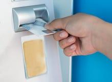 на ATM Стоковые Изображения RF