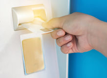 на ATM Стоковые Изображения