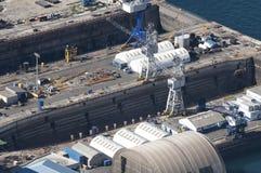 над dockyard Гибралтаром Стоковые Фото