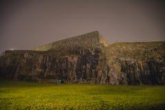 На fredriksten крепость в тумане и темноте Стоковые Изображения RF