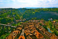 Над Fribourg Стоковое фото RF