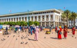 На Mohamed v квадрат в Касабланке - Марокко Стоковое фото RF