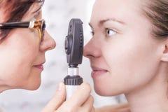 На Optician стоковая фотография