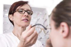 На Optician Стоковые Изображения