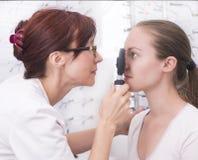 На Optician стоковые изображения rf