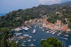 Над Portofino стоковая фотография