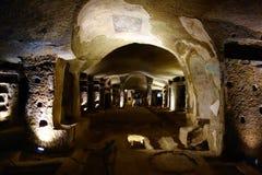 Неаполь, Италия - катакомбы San Gennaro стоковые изображения rf