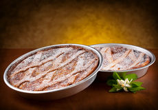Неаполитанское Pastiera, традиционный торт пасхи итальянки. Стоковое Изображение RF
