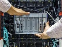 Небезупречный сервер лезвия стоковое изображение rf