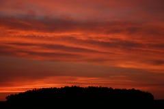 небеса красного цвета firey Стоковые Фото