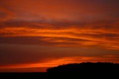 небеса красного цвета firey Стоковое фото RF