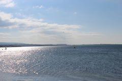Небеса моря и затишья стоковое фото