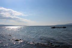 Небеса моря и затишья стоковая фотография rf
