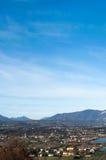 Небеса над desensano fhe, Италией Стоковое фото RF