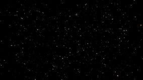 Небеса ночи звездные с петлей звезд мерцать и моргать безшовной сток-видео