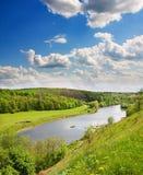 небеса реки вниз стоковое изображение