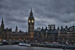 Небеса темноты Лондона большого Бен Стоковое Изображение RF