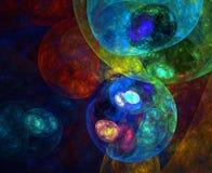 небесная картина маслом Стоковое Изображение