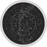 небесное ночное небо карты Стоковое Изображение RF