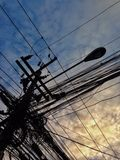 небесно-голубое утро солнца Стоковое фото RF