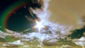 Небесные бурные облака Timelapse, восход солнца к после полудня видеоматериал
