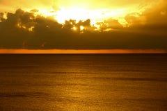небесный заход солнца Стоковые Фото