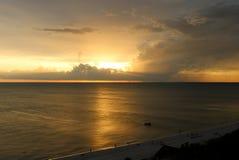 небесный заход солнца Стоковые Изображения RF