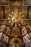 Небесный потолок - интерьер церков спуска  Стоковое Фото