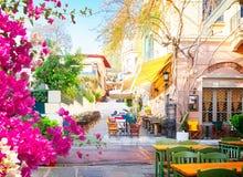 Улица Афина, Греции стоковые изображения